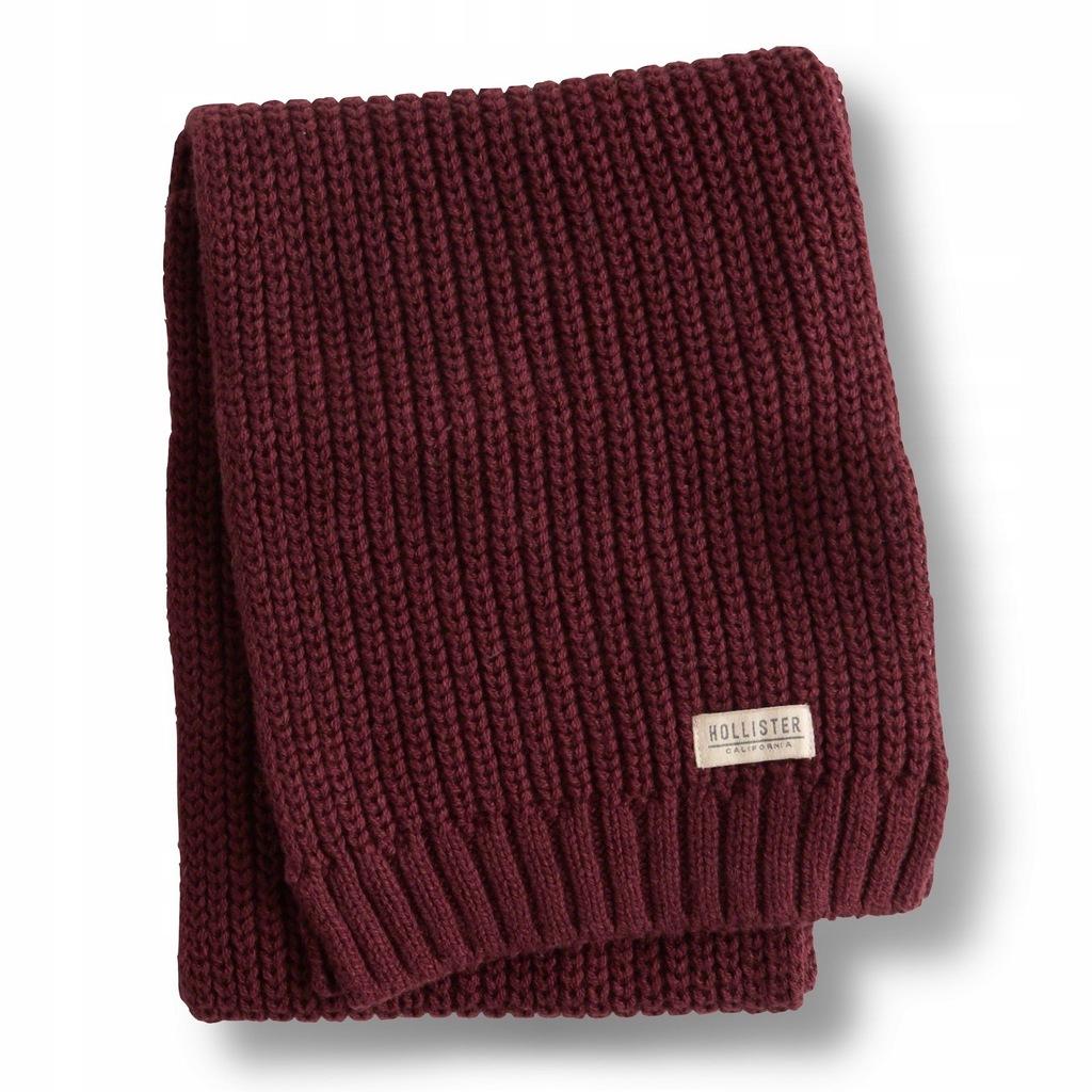 Szalik burgundowy Knit Scarf HOLLISTER Abercrombie