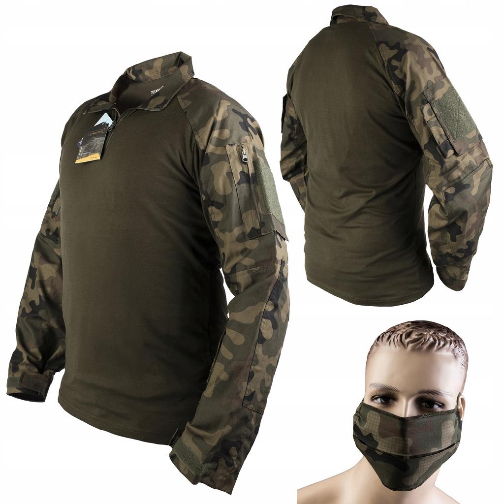 TEXAR Bluza Taktyczna Combat Shirt + Maseczka XL