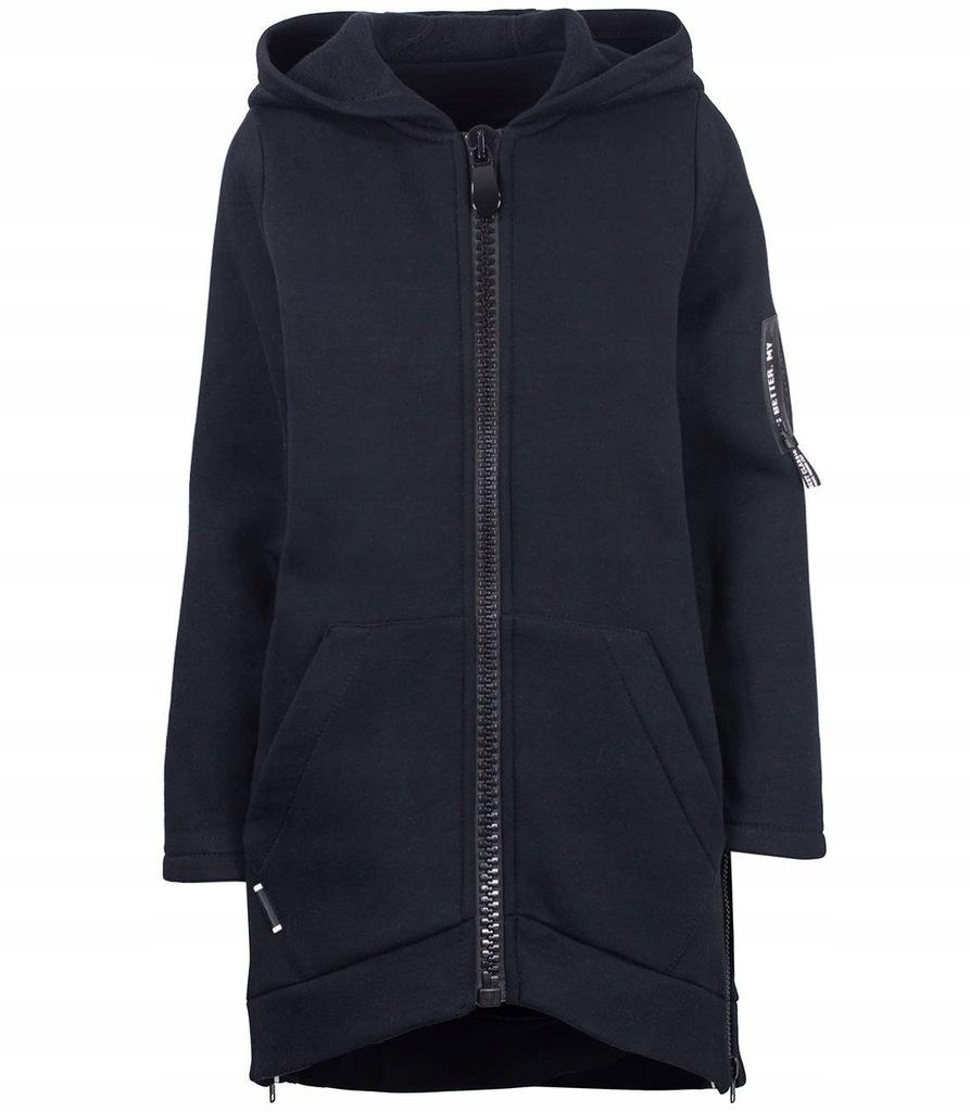 Designerska długa bluza parka FASHION M (38)