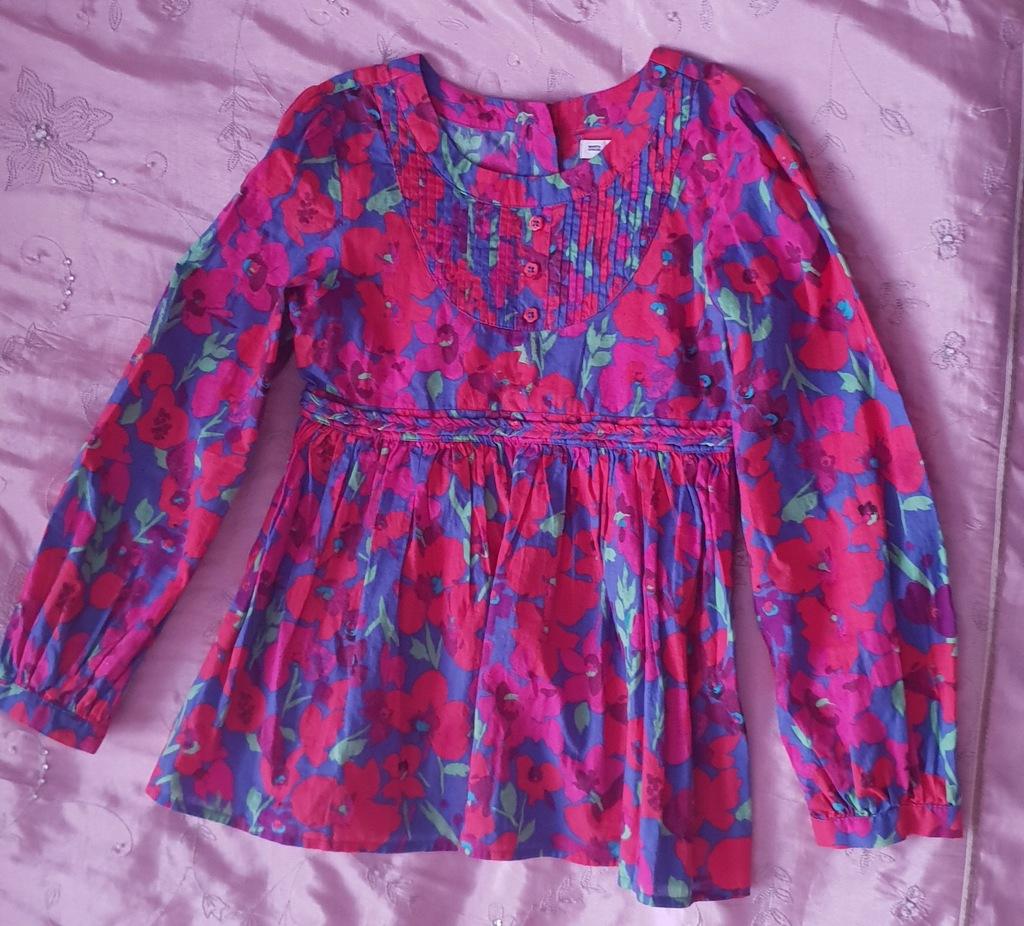 Koszula modna tunika w kwiaty r.122 cm