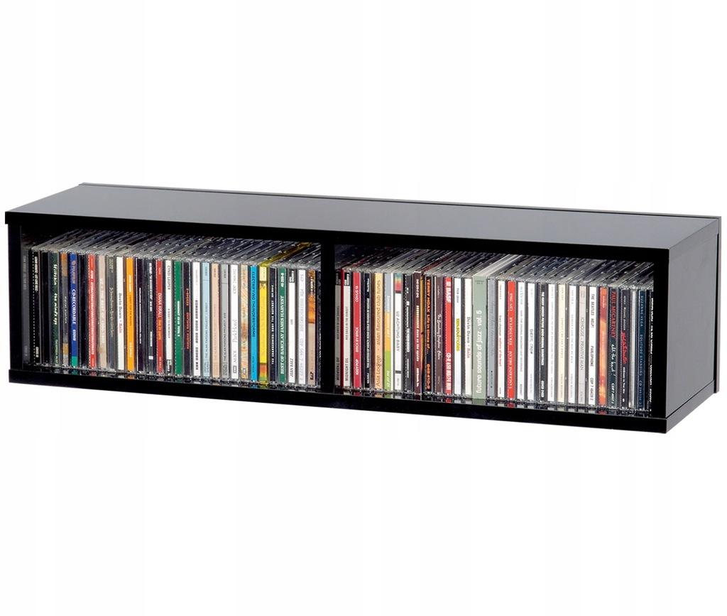 Glorious CD Box 90 Black - segregator, półka na CD