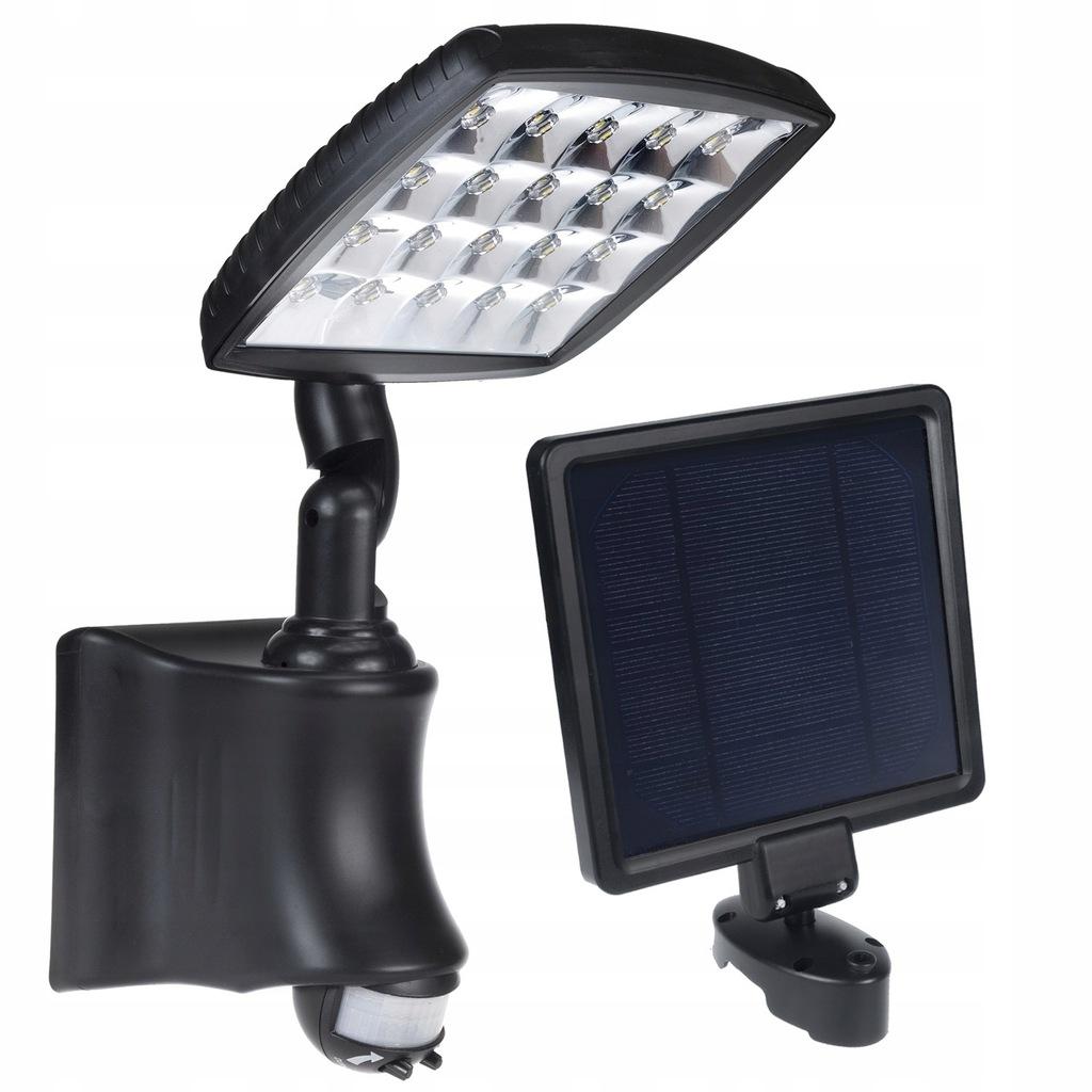 Solarna lampa ścienna z czujnikiem ruchu PIR IP44