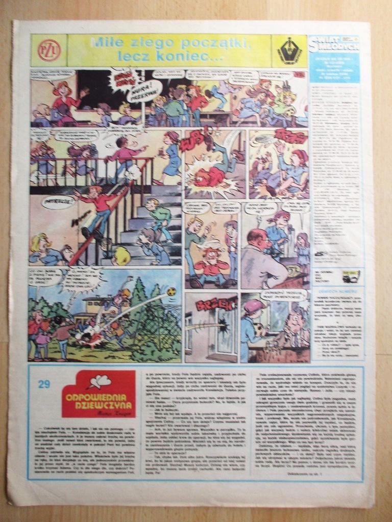 Świat Młodych komiks Pawel PZU 122 1987