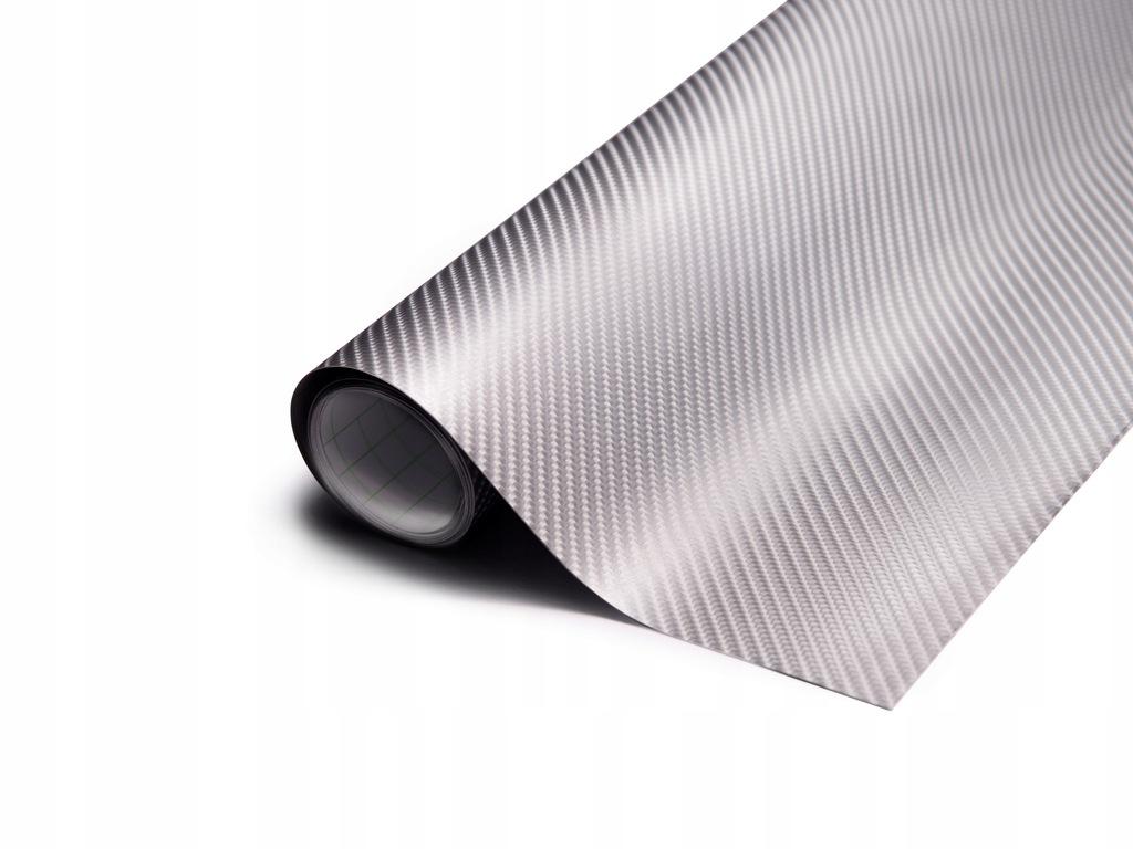 Folia rolka Carbon 4D srebrna 1,52x30m 9086