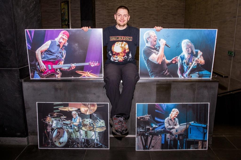 Zdjęcia z autografami Deep Purple
