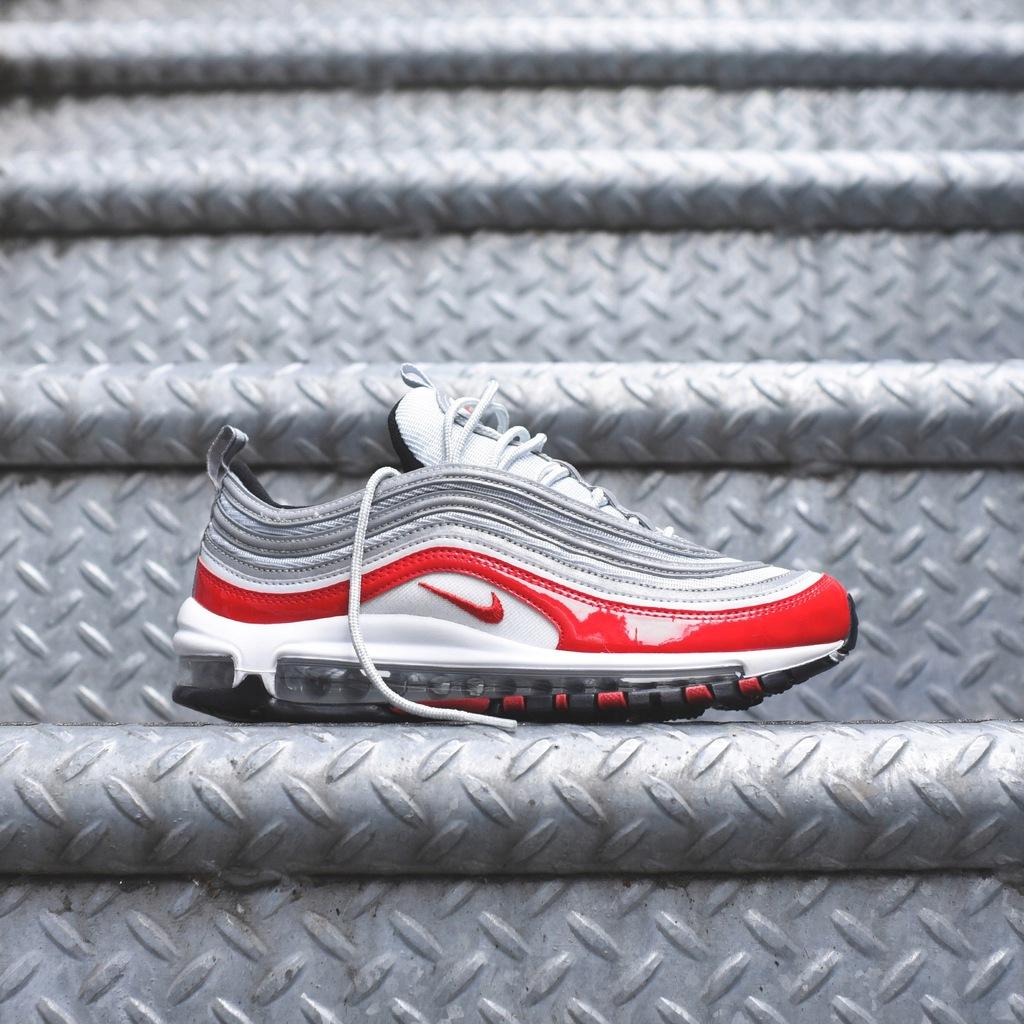 Nike Air Max 97 White Pure Platinum University Red