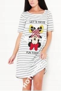 RESERVED Piżama Koszula z Myszką Mickey Paski
