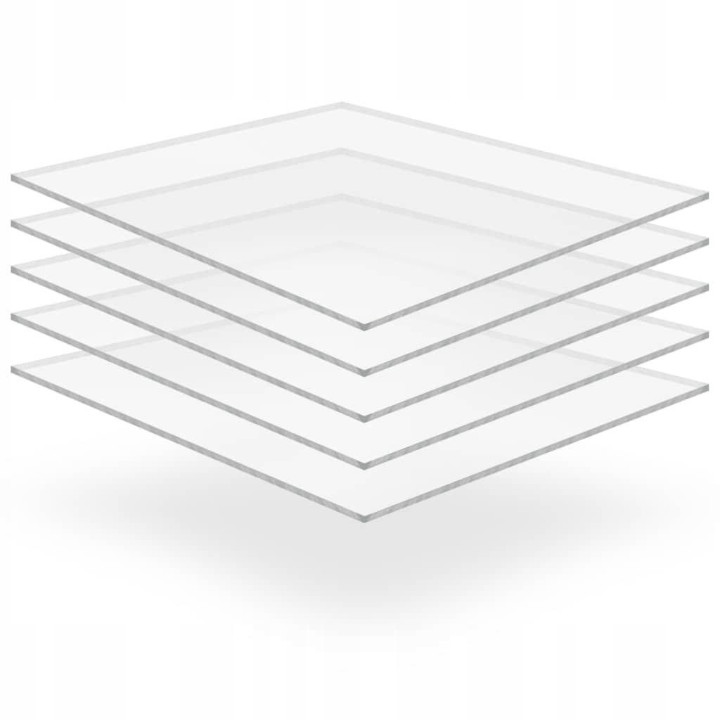 Przezroczyste płyty akrylowe, 5 szt., 40 x 60 cm,