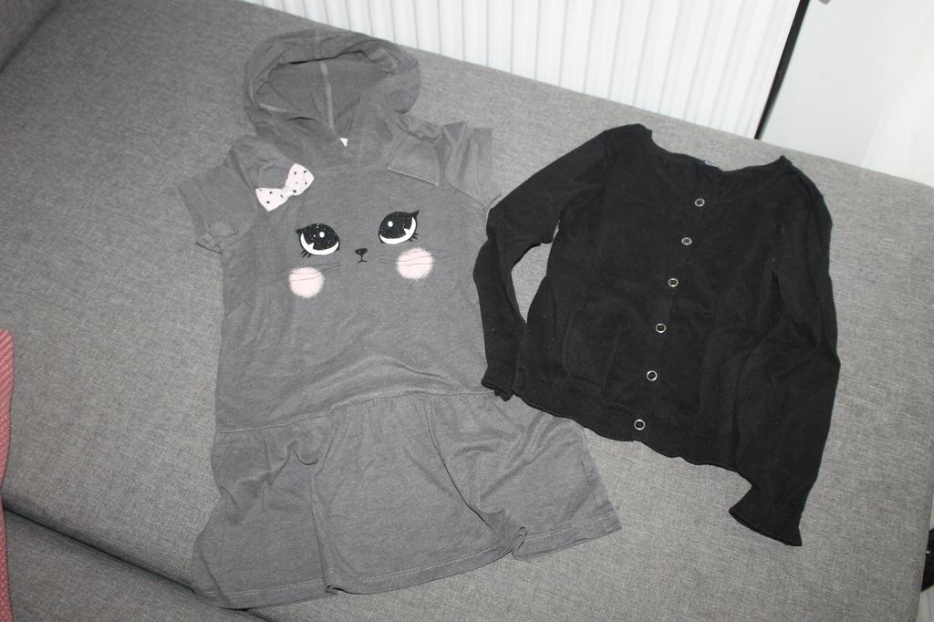 Sukienka H&M oraz sweterek Kiabi nowy 116