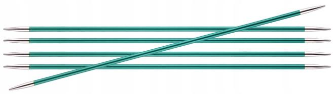Druty KNITPRO ZING metalowe do skarpet 15cm/3,25mm