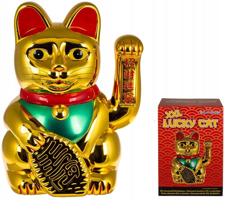 Japonski Kot Szczescia Xxl Lucky Cat Machajacy Kot 7915672931 Oficjalne Archiwum Allegro