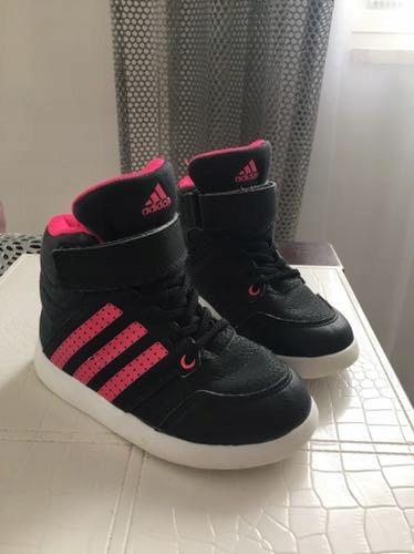 Czarno różowe buty Adidas jak NOWE