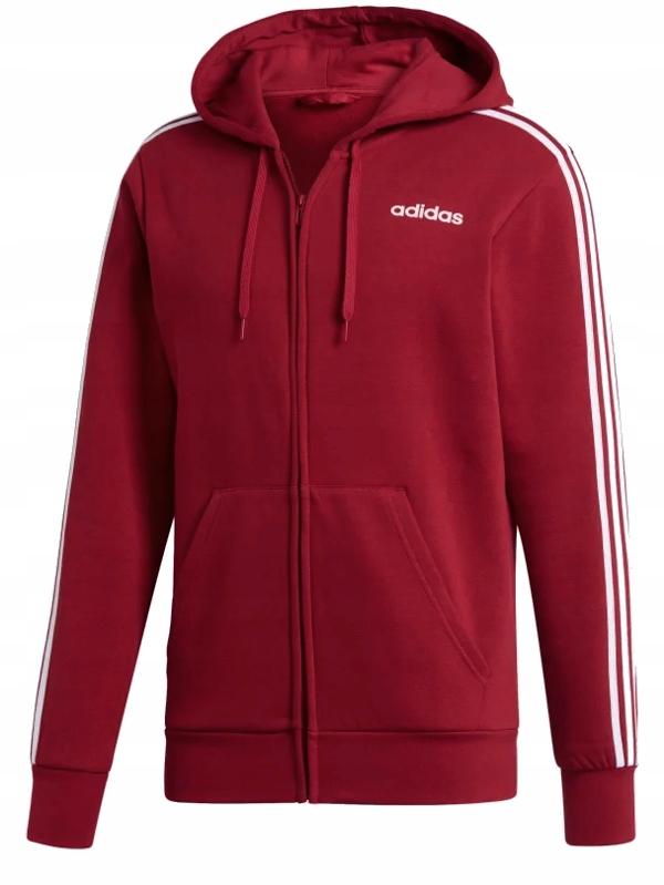 bluza adidas męska czerwona z kapturem