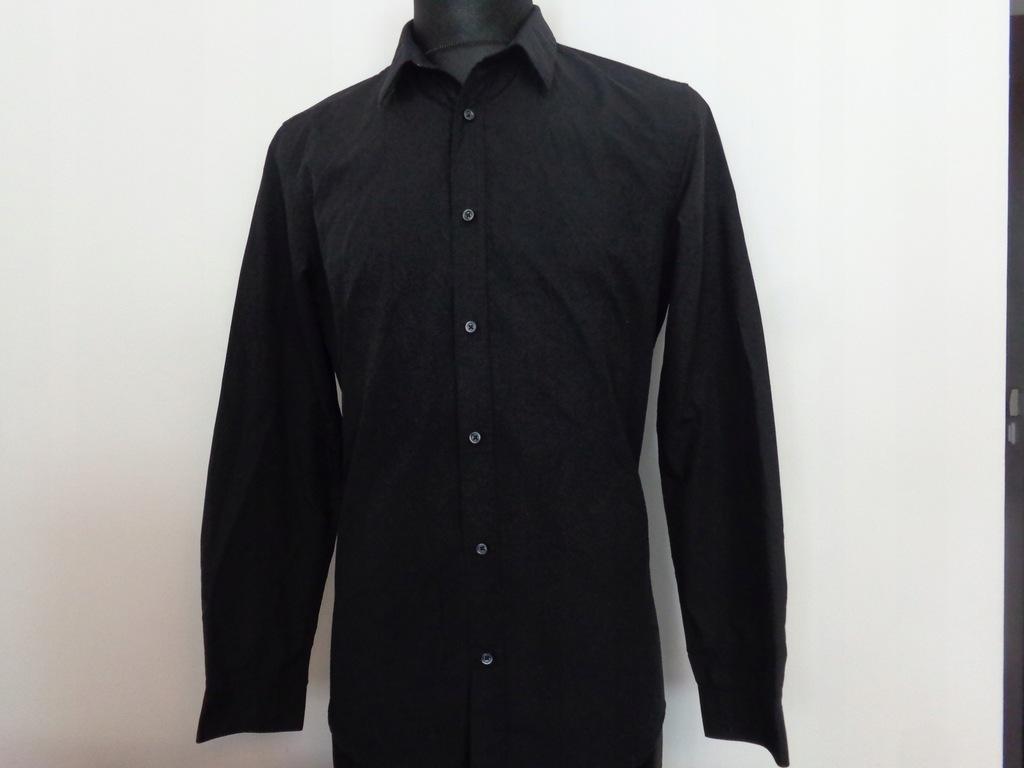 Czarna koszula H&M Easy Iron rozmiar M