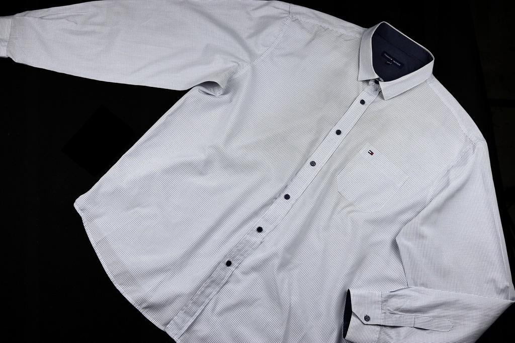 TOMMY HILFINGIER koszula BIAŁA w kratkę _5XL