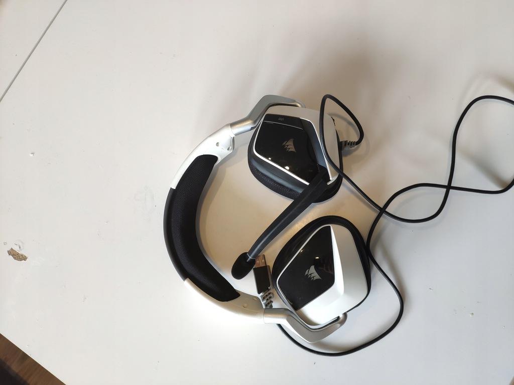 Słuchawki Corsair VOID PRO RGB Białe. Jak nowe