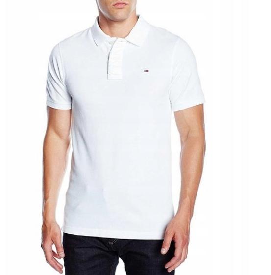 TOMMY HILFIGER nowa koszulka polo oryginał biała L