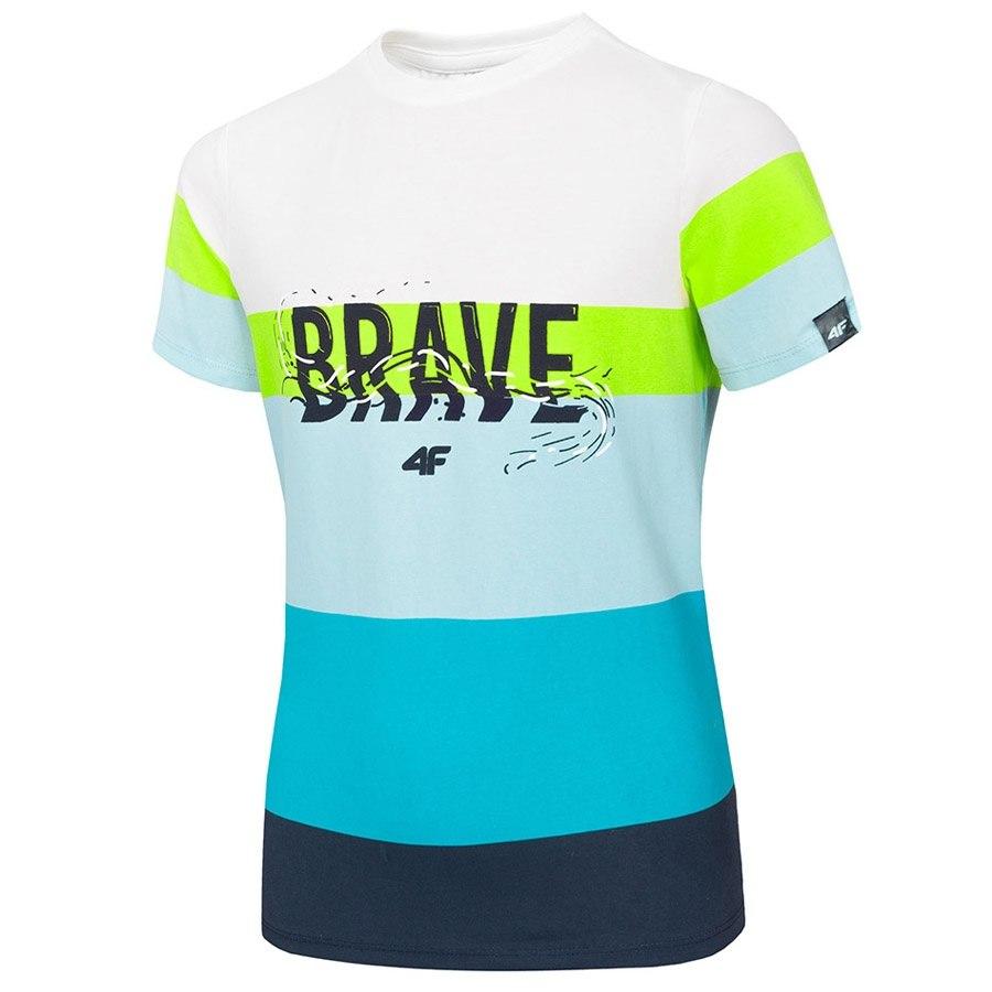 T-Shirt 4F HJL20-JTSM017 33S niebieski 152 cm