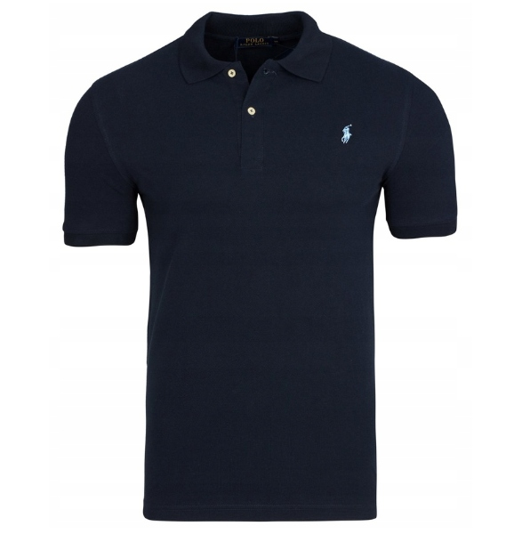 KOSZULKA POLO ralph lauren granat slim fit xl