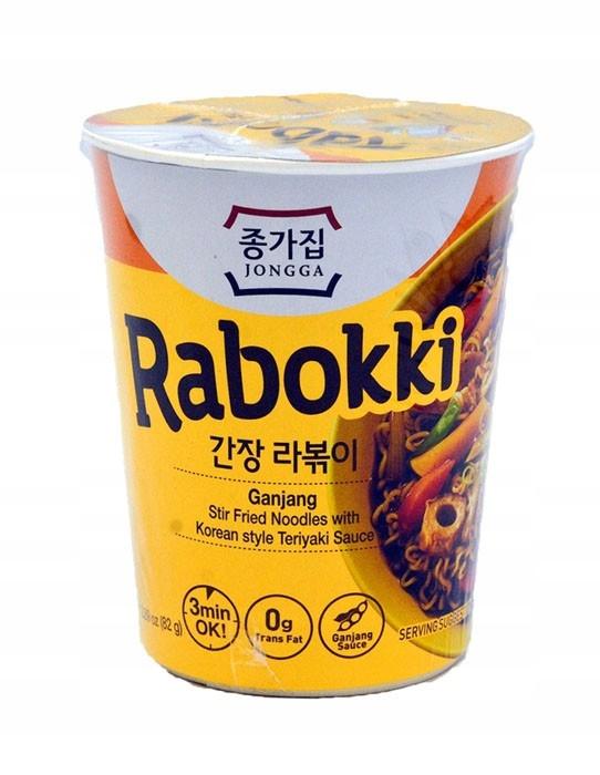 Łagodna zupa w kubku Ganjang Rabokki z sosem Teryi