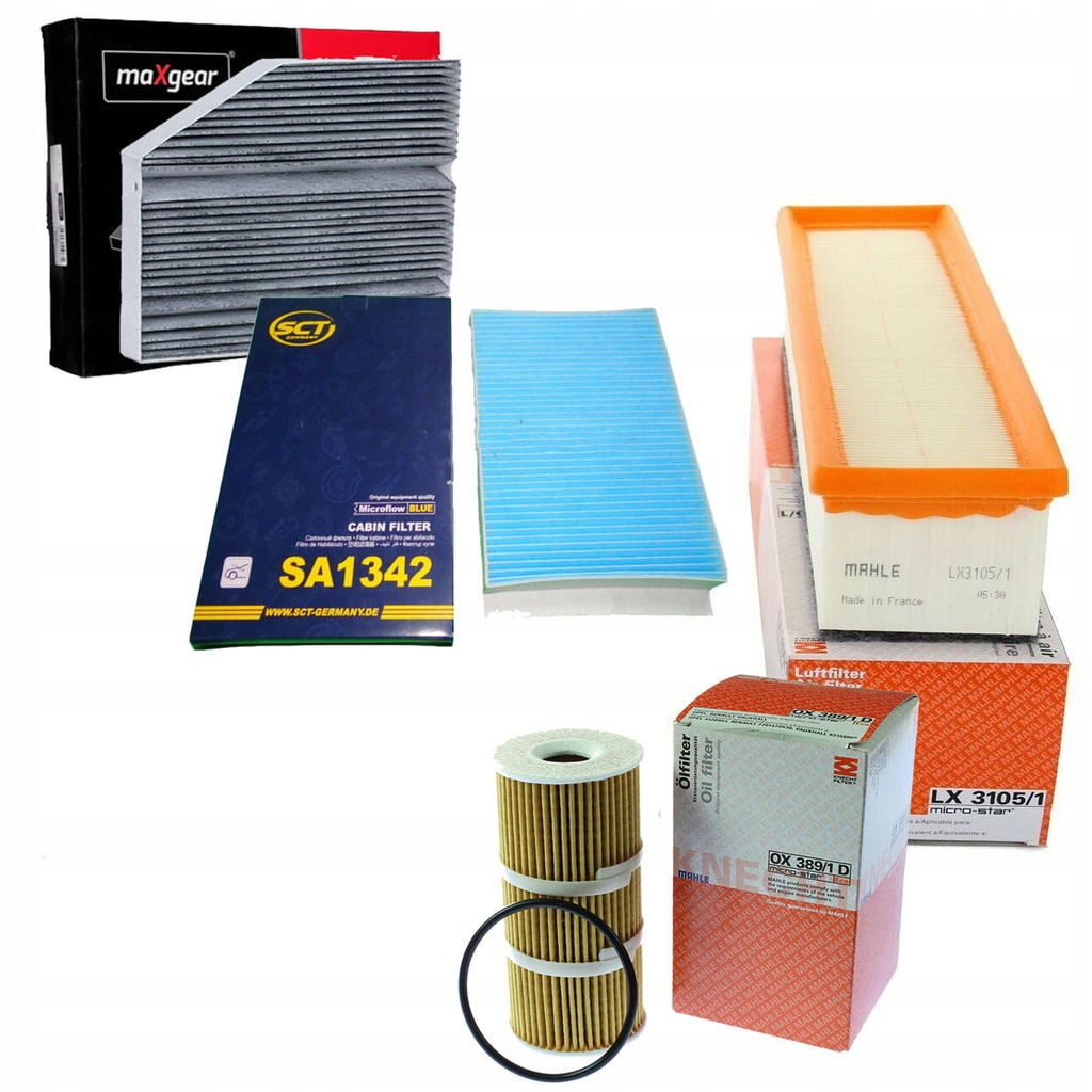 Zestaw filtrów Mercedes C-W205 180,200 BlueTEC/d