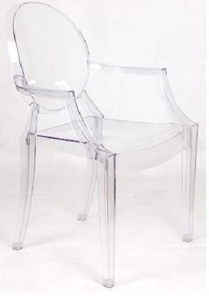 Krzesło LUIS TRANSPARENTNE PRZEZROCZYSTE