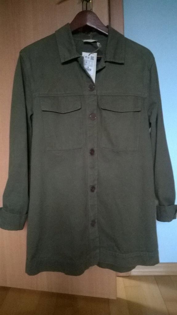 PULL & BEAR płaszcz militarny hafty r.L ZARA