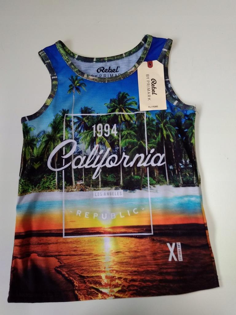REBEL - KOLOROWY BEZRĘKAWNIK california ok.98-104