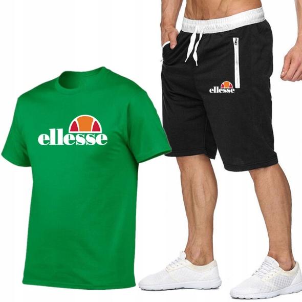 T-shirt ZIELONY+ Spodenki Ellesse R XL MPA WYGODNE