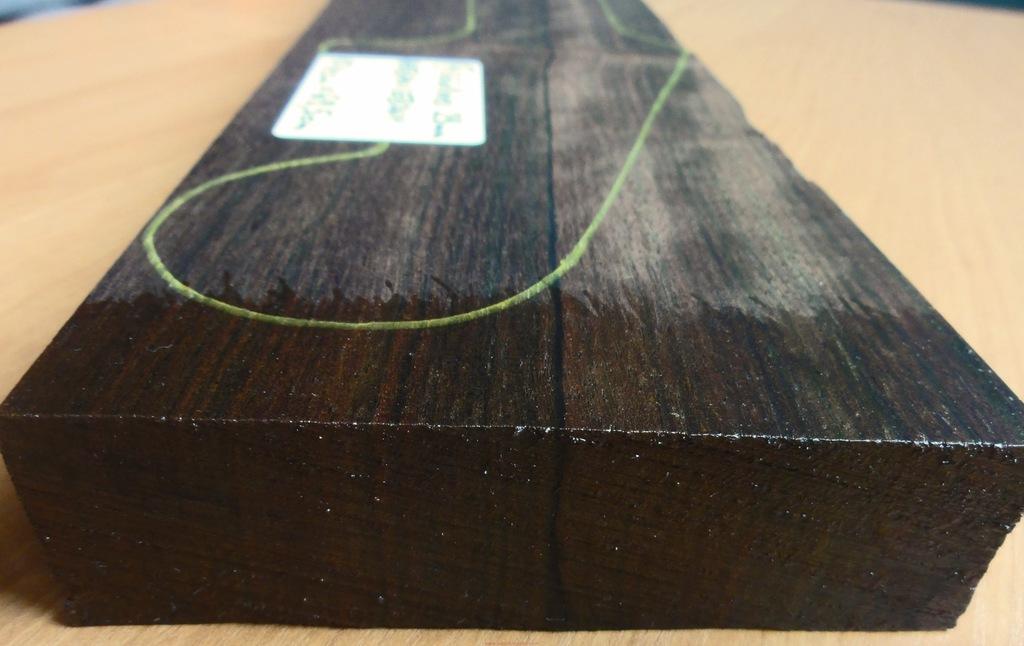 Drewno HEBAN na gryf typu Stratocaster, gr. 29mm