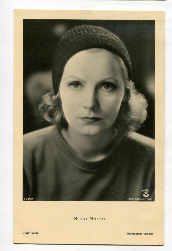Greta Garbo Kino Film Aktorka Foto Pocztówka 14