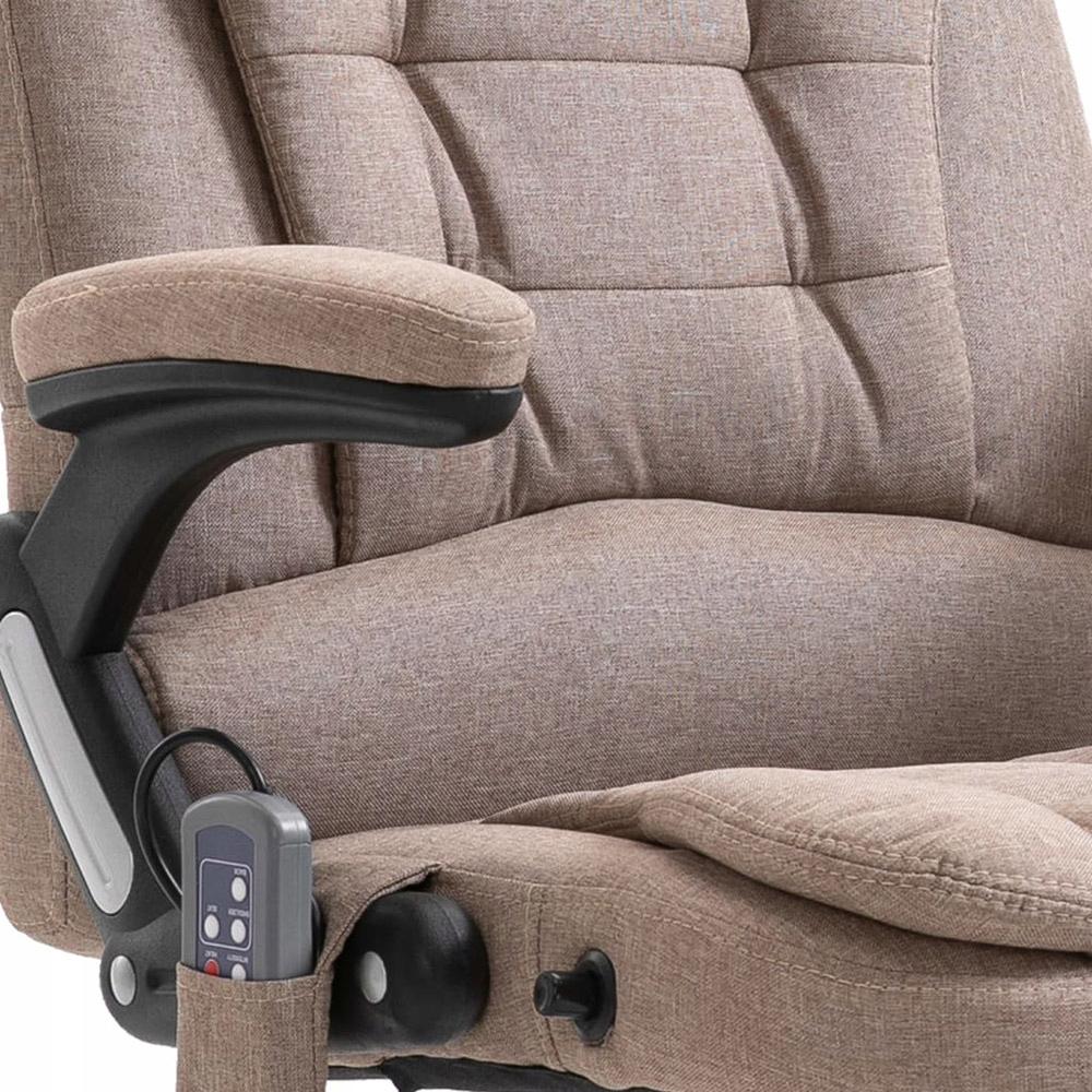 Krzesło biurowe z masażem, taupe, poliester 8741967141