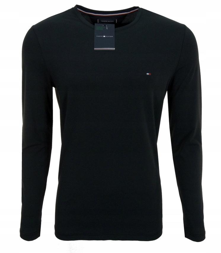 TOMMY HILFIGER koszulka męska,longsleeve,czarna L