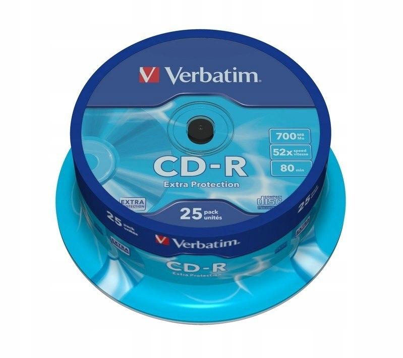 CD-R 52x 700MB 25P CB DL Ex Prot 43432