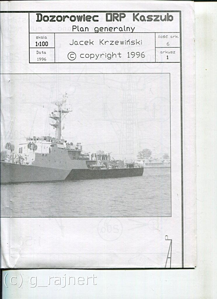 Modelarz 1,2,3/1997 dozorowiec Kaszub kpl. wkładek