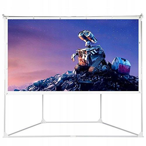 Przenośny ekran projektora HD 100 cali 16:9
