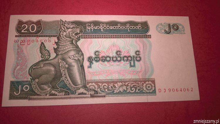 Myanmar - 20 kyats prosto z paczki bankowej - WOŚP