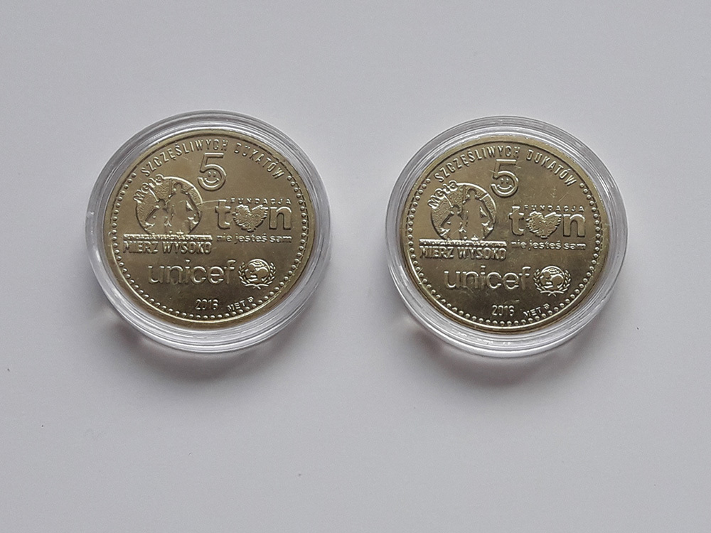 5 szczęśliwych dukatów (dwie monety)