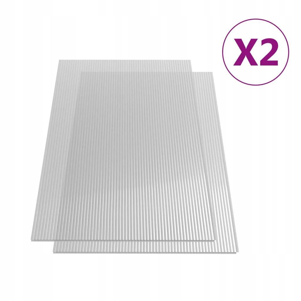 Płyta Poliwęglanowa Do Szklarni x2 121x60,5 cm