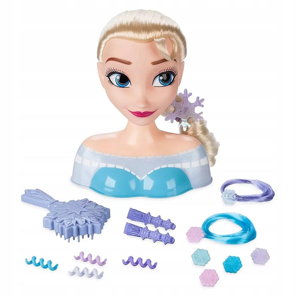 Elsa Frozen Głowa do stylizacji 21 części Disney