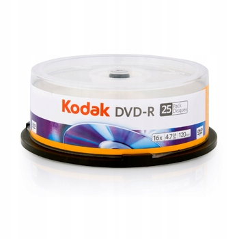 DVD-R KODAK 4.7GB X16 120MIN SPINDLE 25 SZTUK CAKE