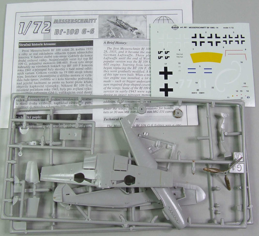 Bf-109 G-6 Smer / hasegawa 1/72 ZŁOM