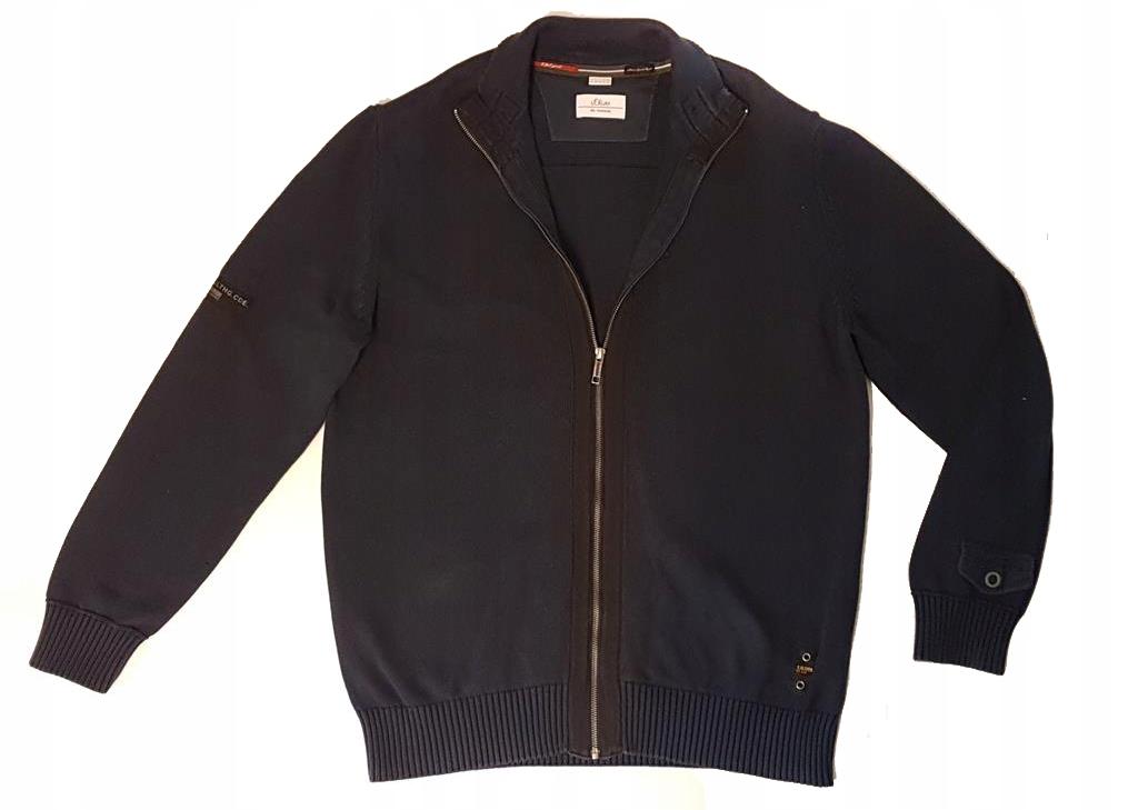 2605 S OLIVER niebieski rozpinany sweter męski XXL
