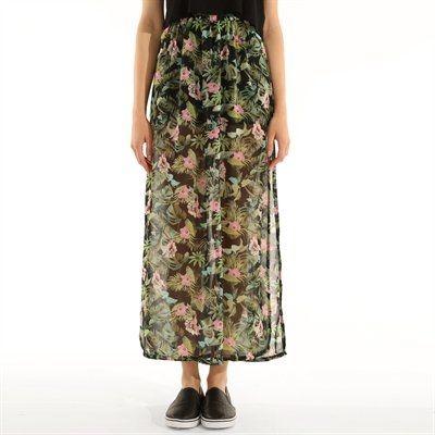 PIMKIE maxi spódnica mgiełka w kwiaty L