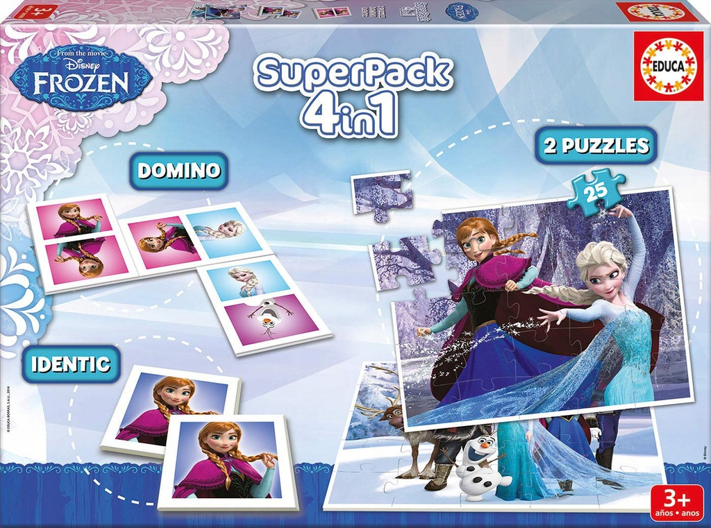Educa Borras Frozen Puzzle and Game Superpack