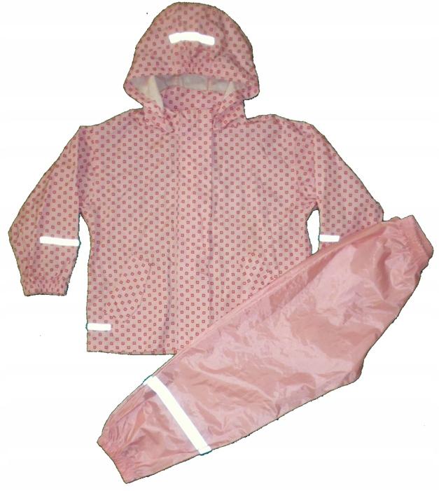 Kurteczka+spodnie przecideszczowe roz 110/116