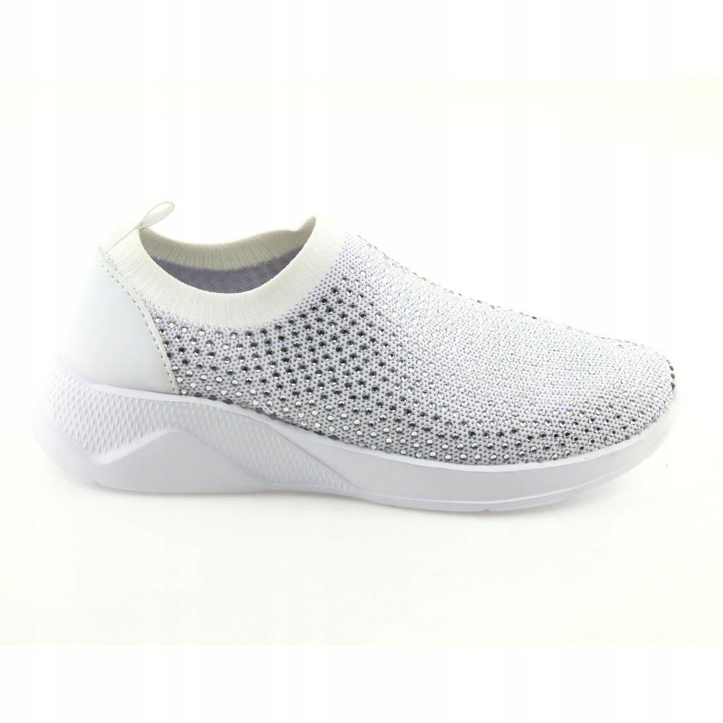 Białe Tekstylne Buty American Club r.35 7905019608