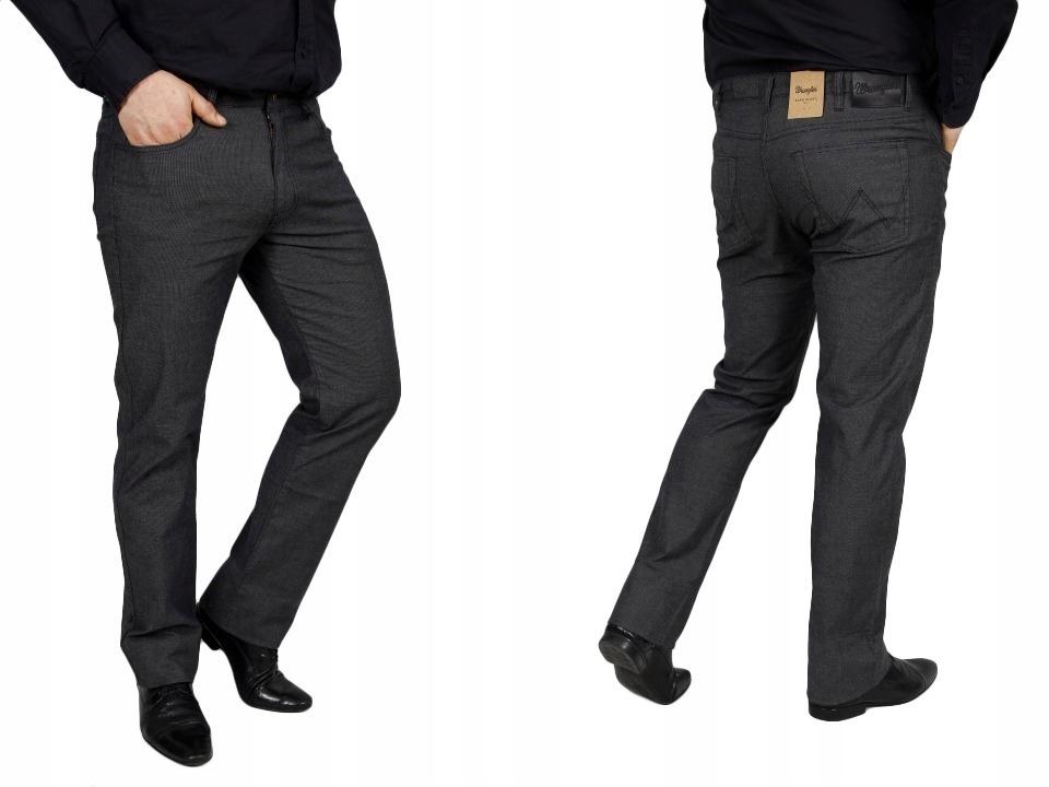 Wrangler Arizona Black Eleganckie Materiał W30 L30