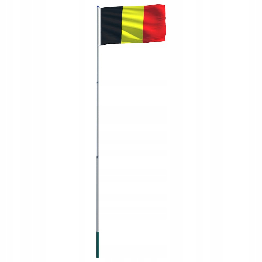 Flaga Belgii VidaXL z aluminiowym masztem 6 m