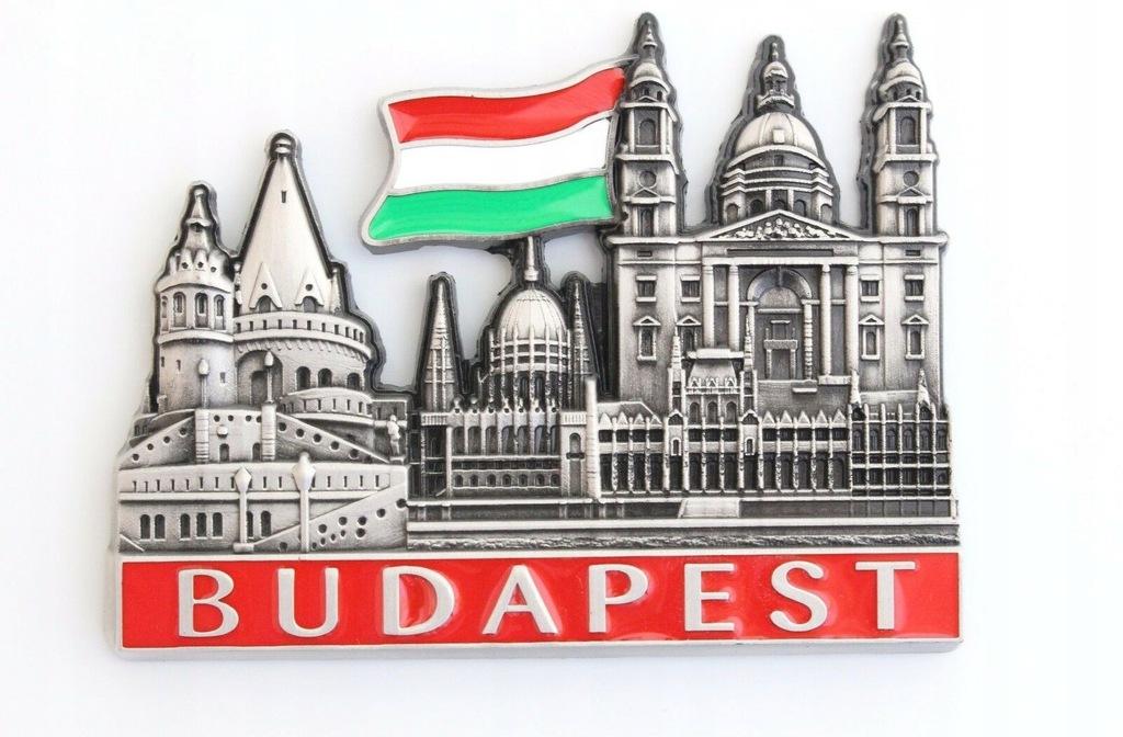 Magnesy metalowe na lodówke : Budapeszt.